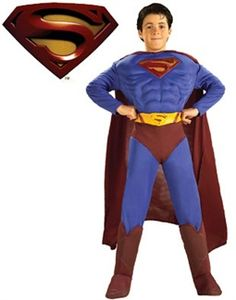 Kids Superman Returns Deluxe Muscle Chest Costume