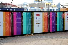 Cable car hoarding for Mace by Octink, via Flickr