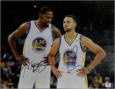 Stephen Curry Kevin Durant Signed Autographed 11X14 Photo MVP Warriors GV 862278