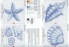 Schema punto croce Conchiglie-stellamarina