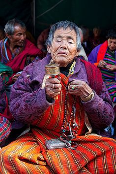 Bhutan...Mala Beads and Prayer Wheel..
