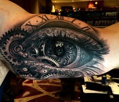 Time tattoos, forearm tattoos, sleeve tattoos, tattoos for guys, unique tat Gear Tattoo, Bicep Tattoo, Forearm Tattoos, Body Art Tattoos, Sleeve Tattoos, Mens Tattoos, Watch Tattoos, Time Tattoos, Arm Tattoos For Guys