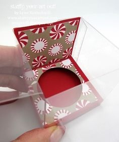 Votive candle gift packaging made with Clear Tiny Treat Box… #stampyourartout - Stampin' Up!® - Stamp Your Art Out! www.stampyourartout.com