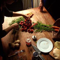 Oggi siamo state al mercato per una bella spesa di frutta e verdura! :) #healthyfood