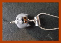 Cat Pendant -  Sterling Silver and handmade lampwork glass  £25.00