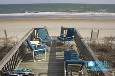 Multiple seating areas to choose from on the oceanside deck spaces