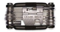 Crank Brothers Multi Bicycle Tool Silver) @ CrankBrothers Tool comes complete with 19 tools for common road and trail-side repairs. The Multi 19 has seven hex wrenches, four … Triathlon, Black Friday Tools, Cruiser Bike Accessories, Wrench Sizes, Mountain Bike Clothing, Build A Bike, Bicycle Tools