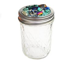 """The """"Stoned"""" weed Stash Jar is embellished with tons of tiny crystals ✨ use code """"VDAY"""" for 20% off at www.shopstaywild.com ✨✨✨"""