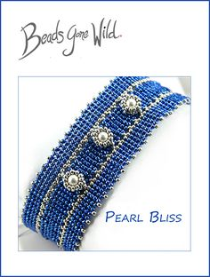Beaded Bracelet kit by Beads Gone Wild. Beaded Bracelet Patterns, Woven Bracelets, Seed Bead Bracelets, Ankle Bracelets, Bead Patterns, Seed Beads, Beads For Sale, Crystals For Sale, Jewelry Making Beads