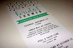 Pastel Bridal Shower Invitation