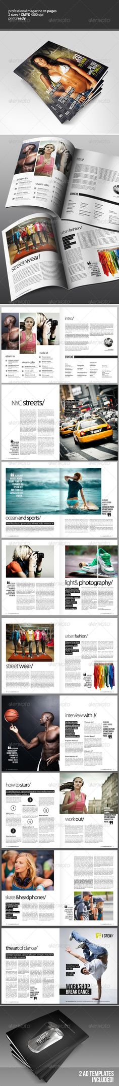 Great looking magazine template on Graphicriver