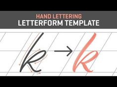 Hand Lettering Tutorial for Beginners | Letterform Template [Free] - YouTube