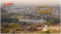 El feriado del 27 de noviembre vivilo en #Tandil! Tu alojamiento y toda la info encontrala en http://www.VivoTandil.com