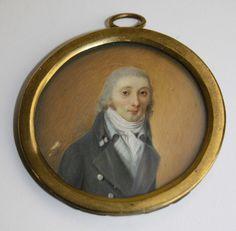 circa 1810 portrait miniature on ivory of a gentleman