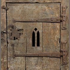 A small oak boarded cupboard In the manner of a century aumbry Georgian Furniture, Medieval Furniture, Antique Furniture, Medieval Life, Medieval Castle, Learn Woodworking, 15th Century, Pomellato, Middle Ages
