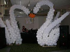 Balloon arch military ball pinterest balloon tree garden balloon swan arch balloon arch balloon decor balloon wedding decor balloon entryway junglespirit Images