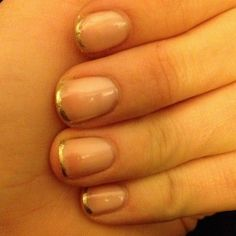 Gold french tips, simple yet elegant.