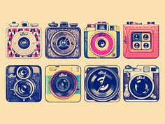 Camera Illustrations by Andrey Maxim.