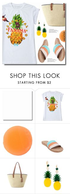 """""""Tropical"""" by soks ❤ liked on Polyvore featuring Zelens, Linen House, Celebrate Shop and polyvoreeditorial"""
