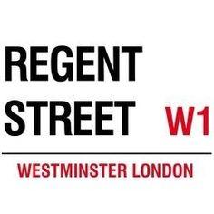 Metal Wall Sign, Regent Street. 400x300mm