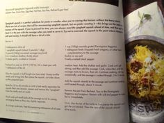 Roasted spaghetti squash with sausage from Simply Gluten Free magazine