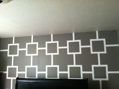 Take Tape Off When Paint Is Dry To The Touch And Tada! U Have A Design Wall