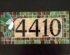 Address Plaque Mosaic Address Plaque Name Plaque by melissaforcier