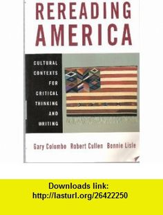 Rereading america 8e i claim 9780312624781 gary colombo robert rereading america cultural contexts for critical thnking and writing 9780312249168 gary colombo robert fandeluxe Image collections