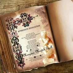 Your place to buy and sell all things handmade Wiccan Books, Magick Book, Wiccan Spell Book, Magick Spells, Witchcraft, Invocation Prayer, Aphrodite Aesthetic, Aphrodite Goddess, Goddess Of Love