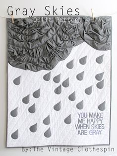 @Mary Robertshaw.  i NEED this for baby girl.  Gray Skies PDF Quilt Pattern. $9.50, via Etsy.