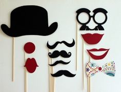 Circus Clown Photobooth Props