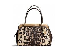 Coach's leopard-print satchel