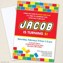 Paper goods and DIY printables for parties and holidays Construction Birthday Parties, Lego Birthday Party, Girl Birthday, Lego Party Invitations, Time To Celebrate, Address Labels, Paper Goods, Legos, Brick