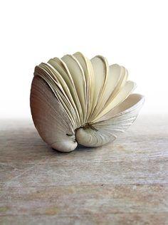 petit paper & shell sculpture by Erika Ekrem of Odelae