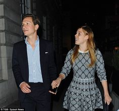 Good night out? The pair appeared to be in high spirits as they left the exclusive club