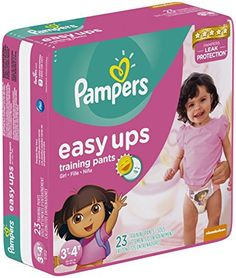 Pampers Easy Ups Diapers, Girls, Size3T-4T, 23 Count
