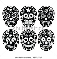 Doodle Floral Skulls Damask Seamless Pattern In Pink. Stock Vector 162170531 : Shutterstock
