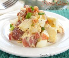 Potato Salad with Bacon - Family Table Treasures