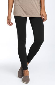 I love opaque black leggings with dresses, skirts, gym shorts, tunics, and even long t-shirts.  One of the only things I like about the cold season!