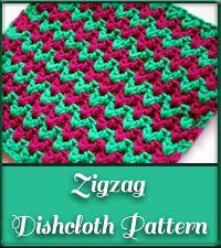 Free Crochet Dishcloth Pattern - ZigZag | mellie blossom -mellie blossom -