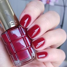 Rubis Folies Loreal, Lisa, Nail Polish, Nails, Instagram Posts, Color, Beauty, Varnishes, Beleza