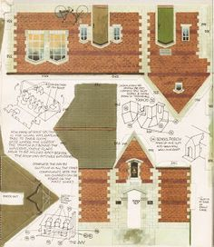 Kellogg's UK Paper Village Sheet 3 Pt 2 - The Inn Today we're continuing our… Cardboard Toys, Paper Toys, Paper Art, Paper Crafts, Foam Crafts, Paper Structure, House Template, Putz Houses, Glitter Houses