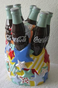 Coca-Cola Bottles 2000 Cookie Jar