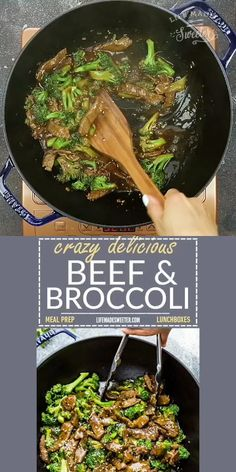 Beef and Broccoli stir fry makes the perfect dish when that takeout craving hits! Best of all, this skinny recipe for beef and broccoli is SO easy to make. It's flavorful and much healthier and way better than any Asian carry-out. Great for Sunday meal prep for school or work lunchboxes or lunch bowls!