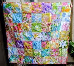 Hideaway Girl: Couple-O-Vintage Sheet Quilts
