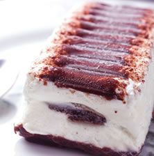 Semifreddo with coffee and chocolate