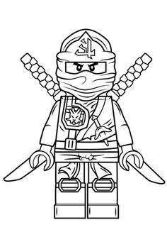 Desene de colorat cu lego ninjago ninja verde - PLANSE DE COLORAT CU LEGO