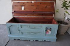 Shabby Cottage Chic Cedar Hope Chest , Shabby French Cottage Hope Chest