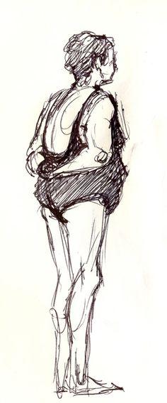Beach Sketch by Luis Zamora Pueyo