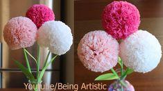 How To Make Round Tissue Paper Flower - DIY Paper Craft - YouTube